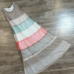 ❄️ 3/$25 Block Panel Multicolored Maxi Dress